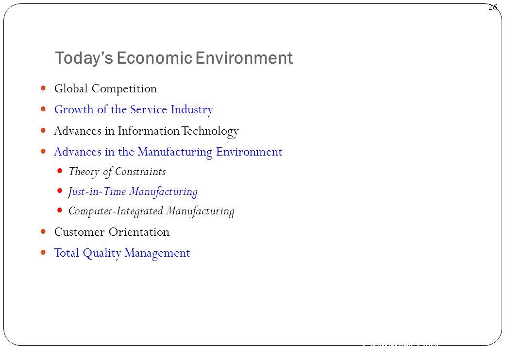 Today's Economic Environment