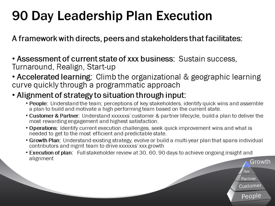 90 Day Leadership Plan Execution
