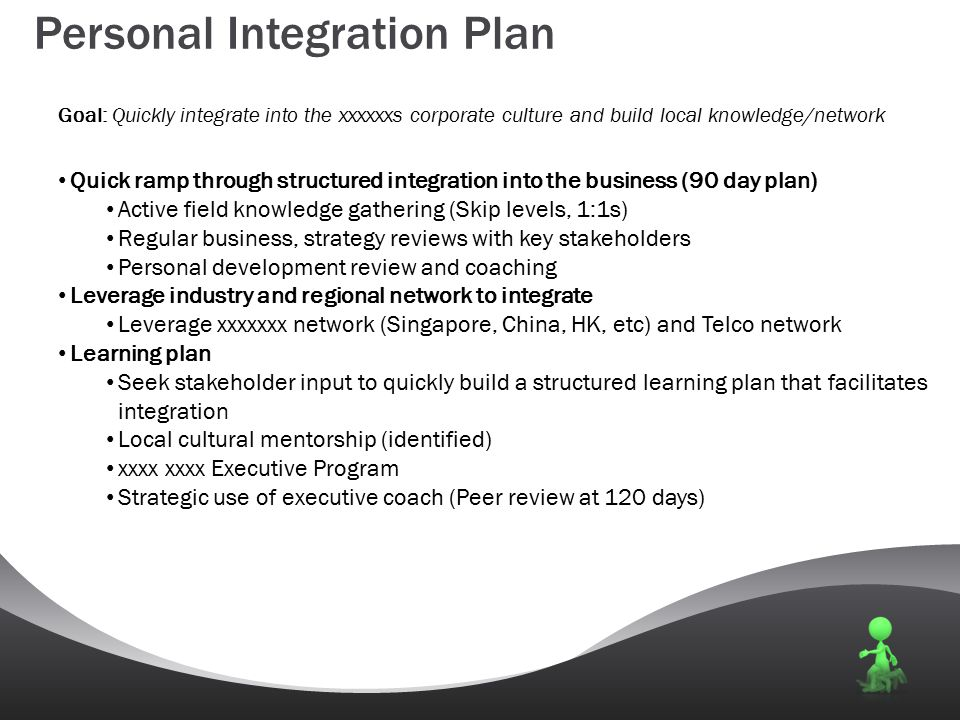 Personal Integration Plan