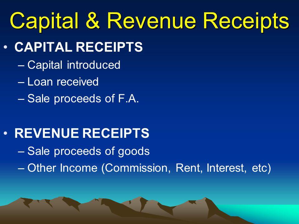Capital & Revenue Receipts