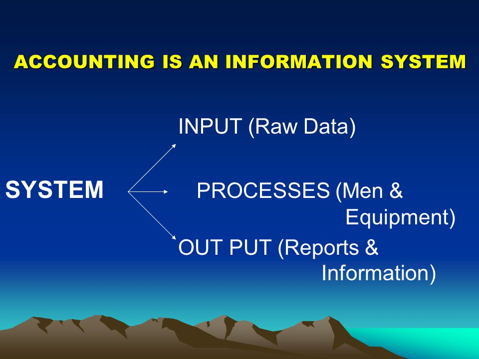 ACCOUNTING IS AN INFORMATION SYSTEM