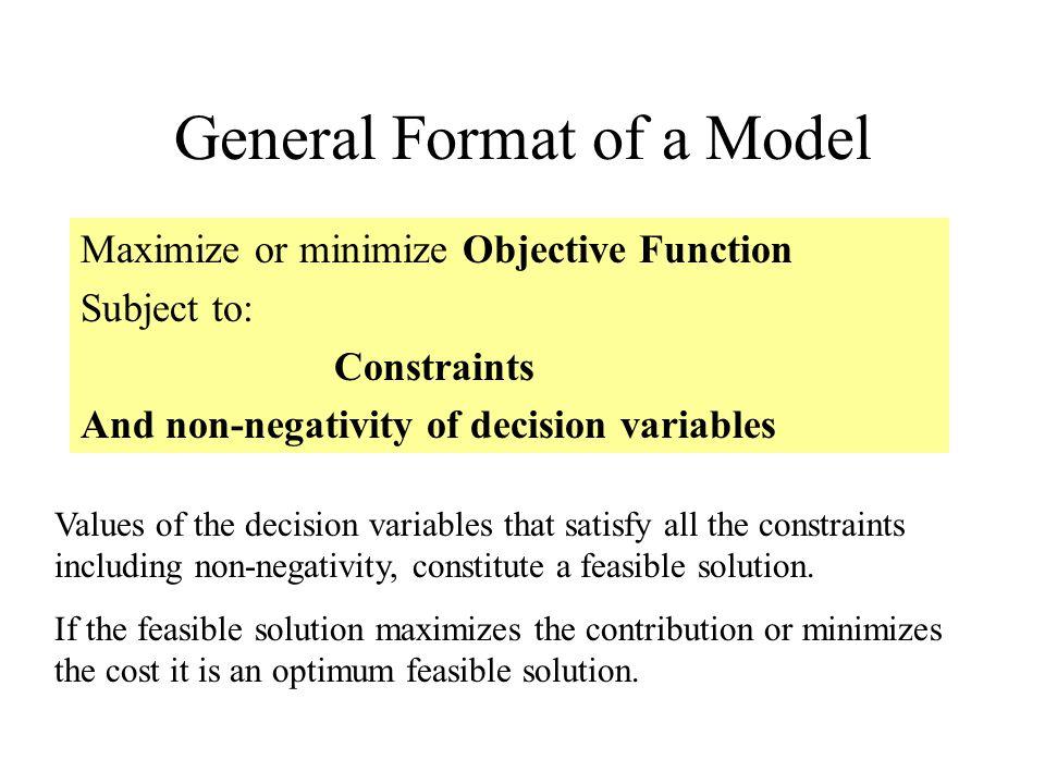 General Format of a Model