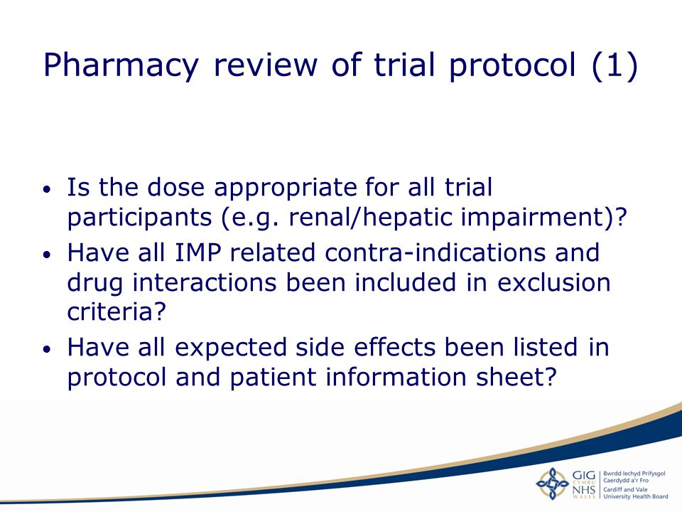 Pharmacy review of trial protocol (1)