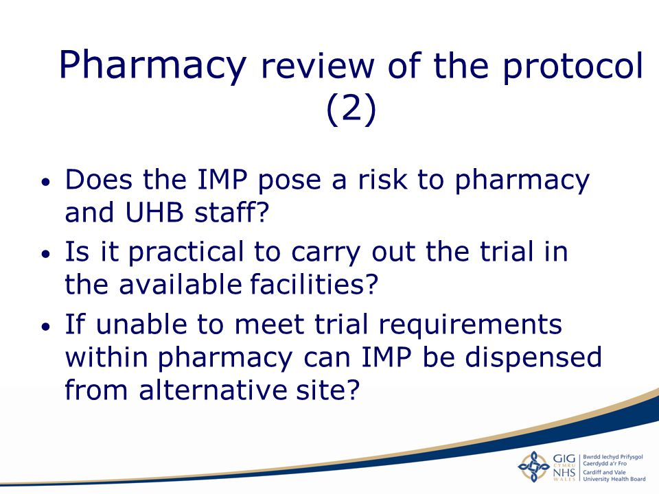Pharmacy review of the protocol (2)