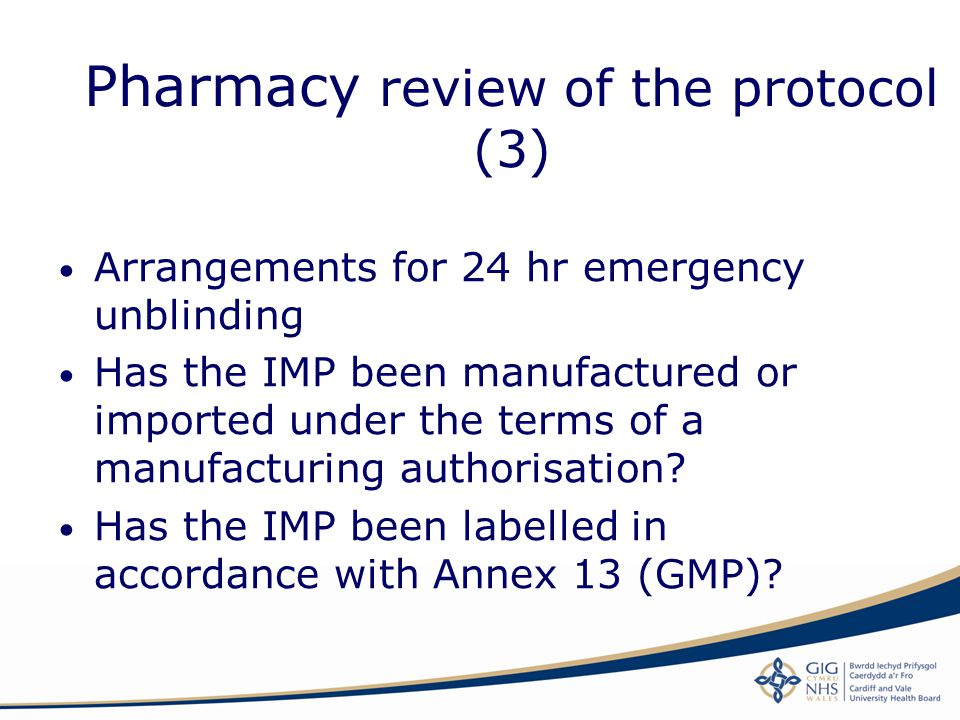 Pharmacy review of the protocol (3)
