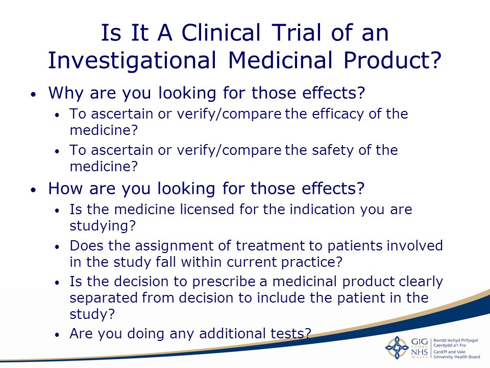 Is It A Clinical Trial of an Investigational Medicinal Product