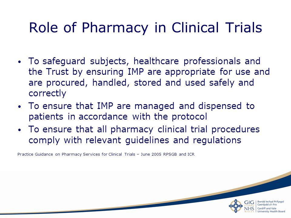 Role of Pharmacy in Clinical Trials