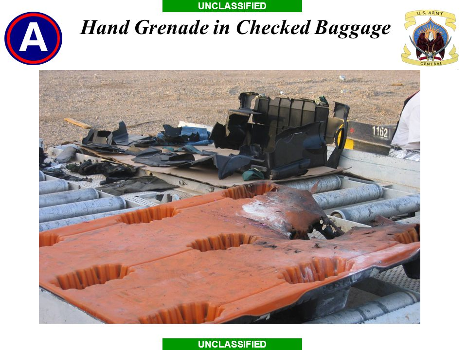 Hand Grenade in Checked Baggage