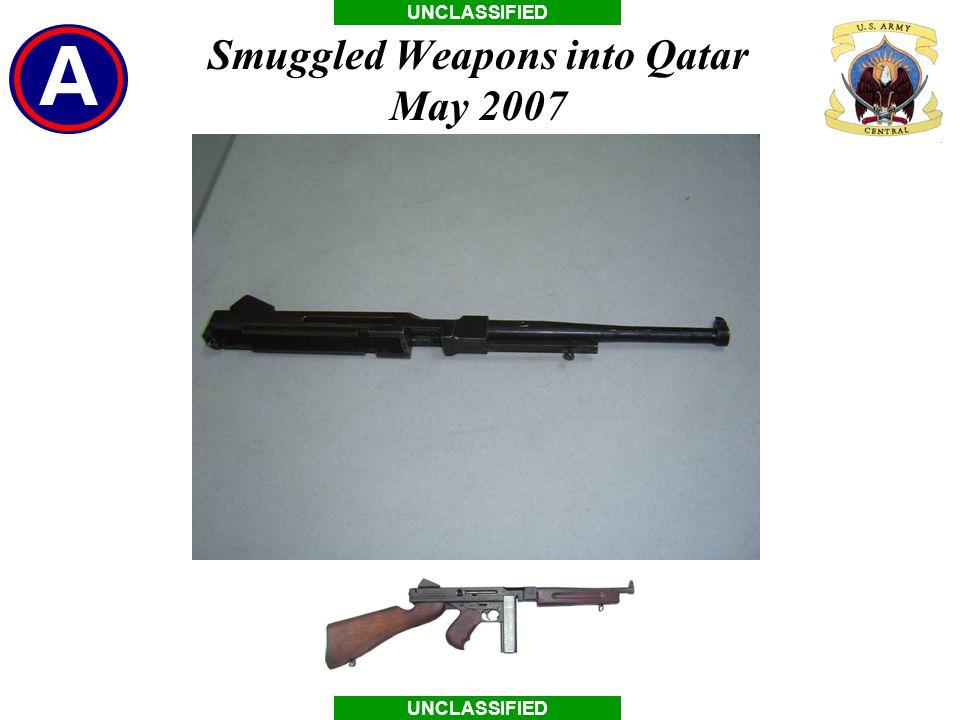 Smuggled Weapons into Qatar May 2007