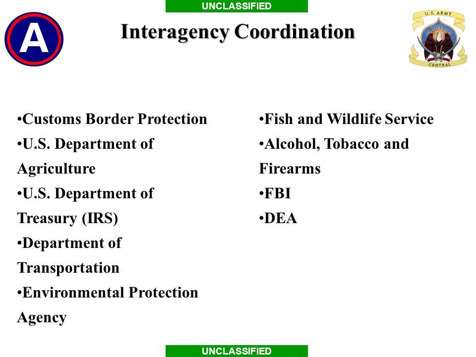 Interagency Coordination