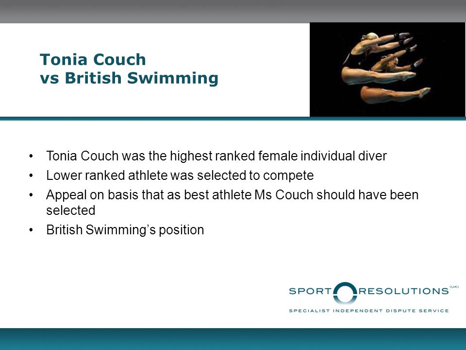 Tonia Couch vs British Swimming