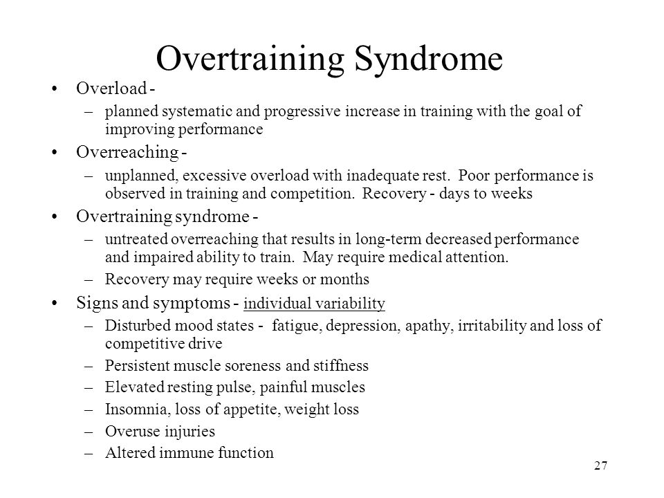 Overtraining Syndrome