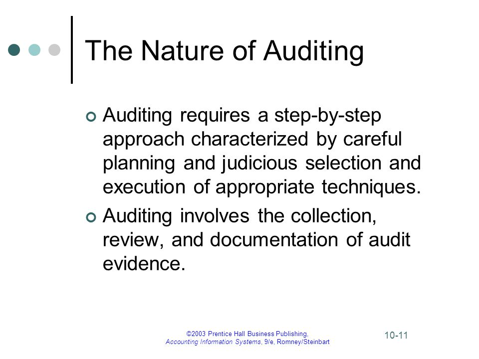 The Nature of Auditing