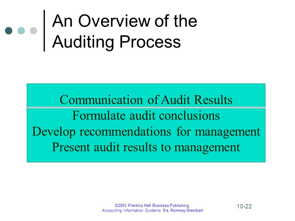 An Overview of the Auditing Process
