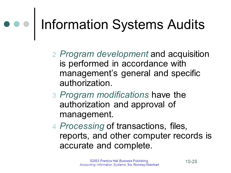 Information Systems Audits