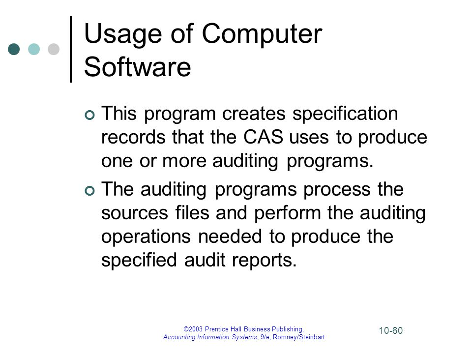 Usage of Computer Software