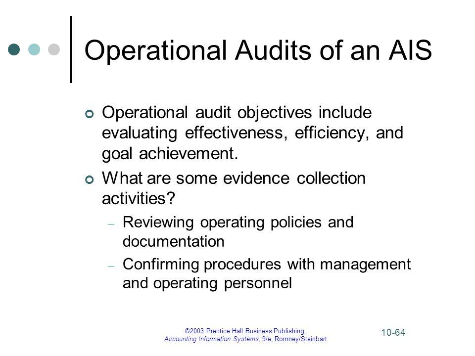 Operational Audits of an AIS