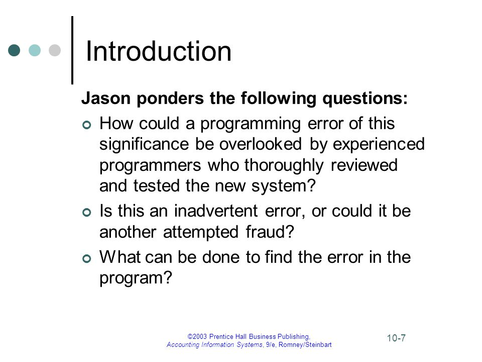 Introduction Jason ponders the following questions: