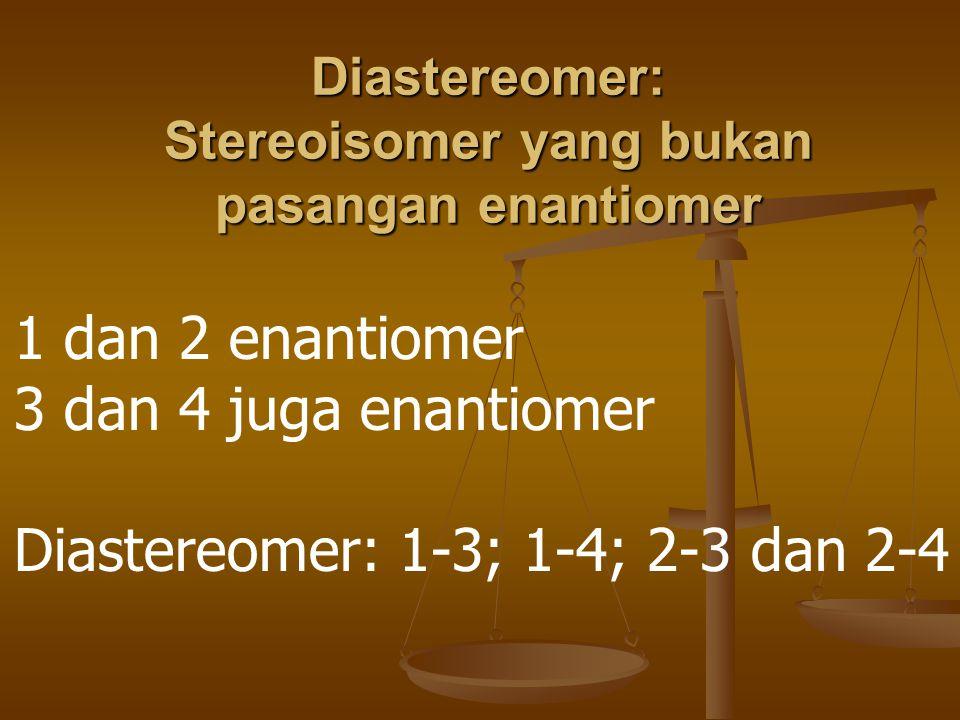 Diastereomer: Stereoisomer yang bukan pasangan enantiomer