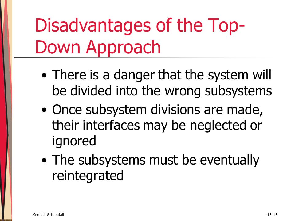 Disadvantages of the Top-Down Approach