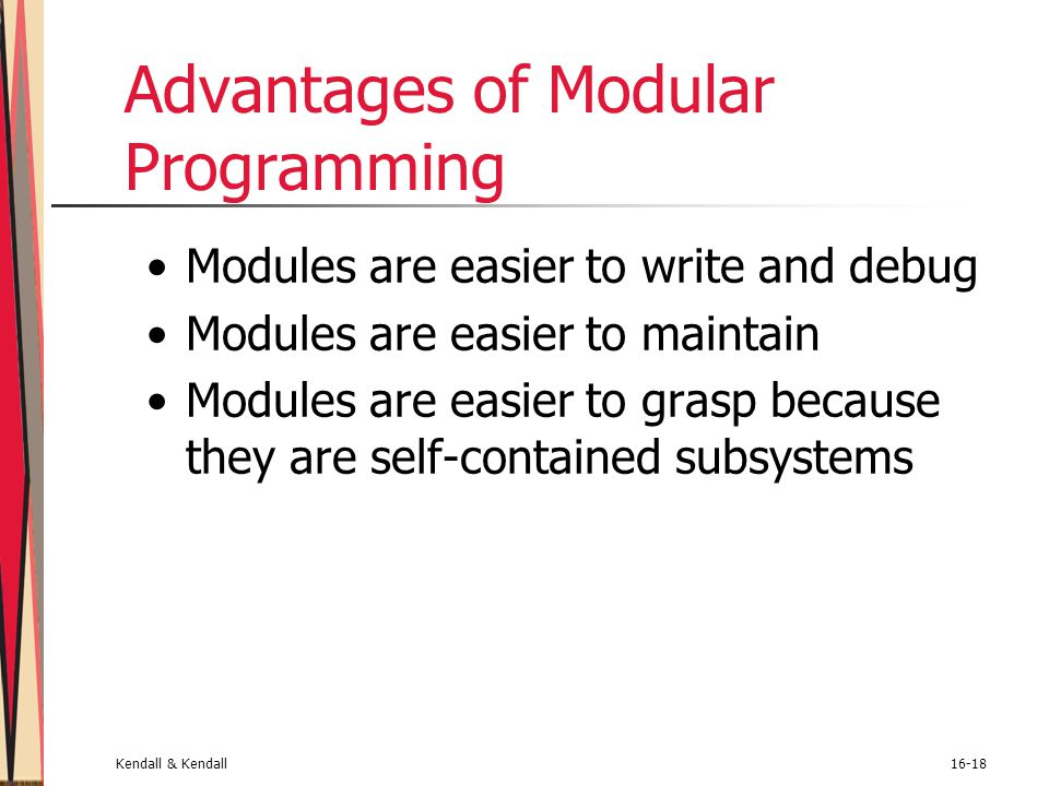 Advantages of Modular Programming