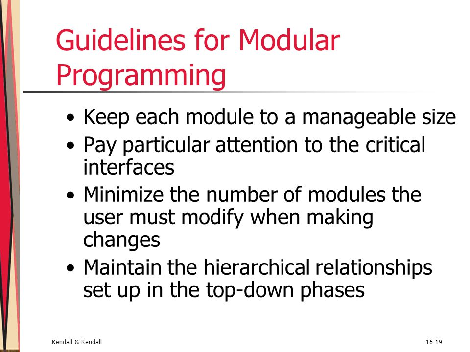 Guidelines for Modular Programming