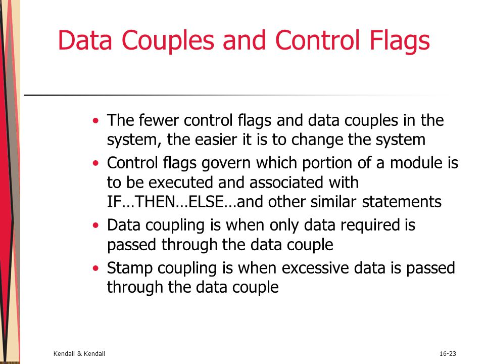 Data Couples and Control Flags