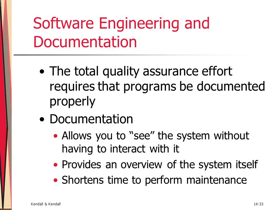 Software Engineering and Documentation
