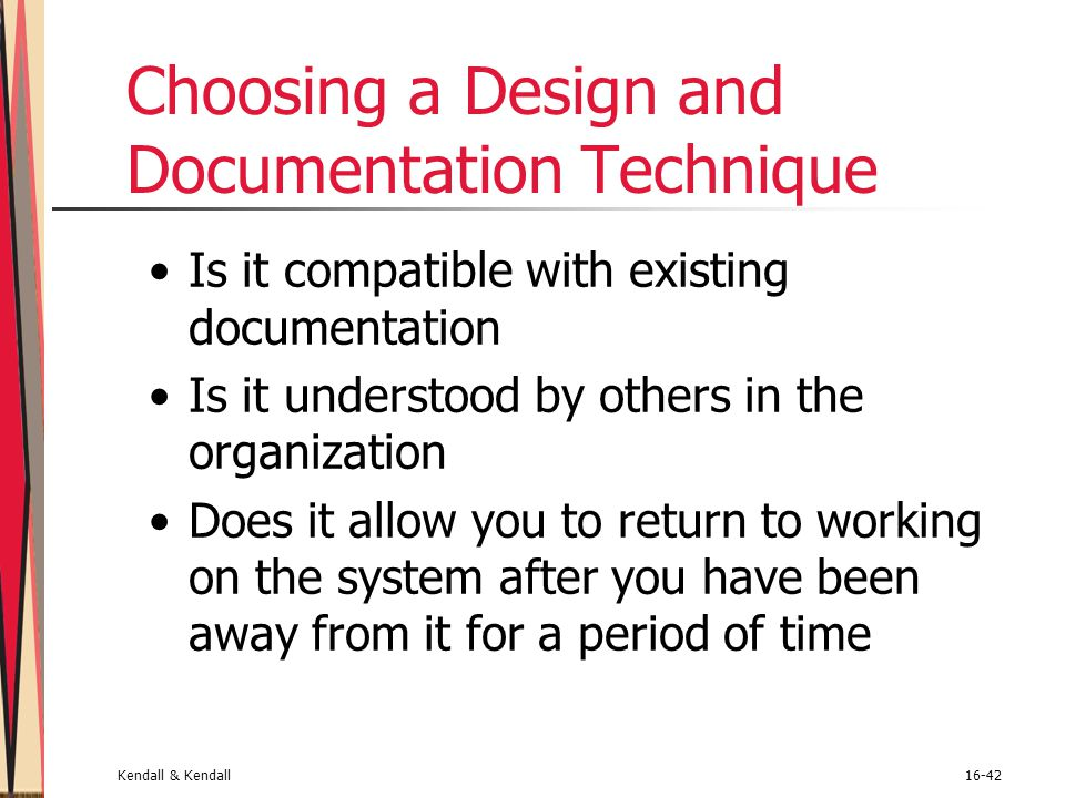 Choosing a Design and Documentation Technique