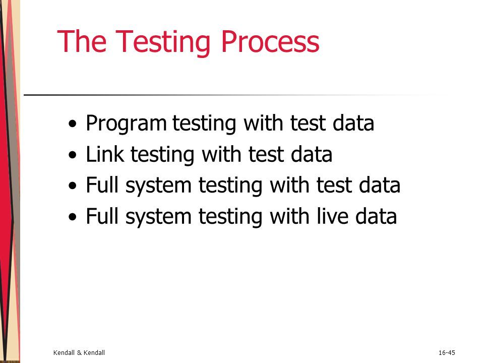 The Testing Process Program testing with test data