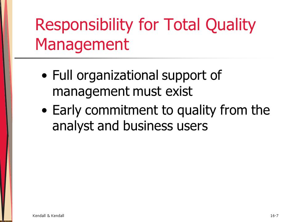 Responsibility for Total Quality Management