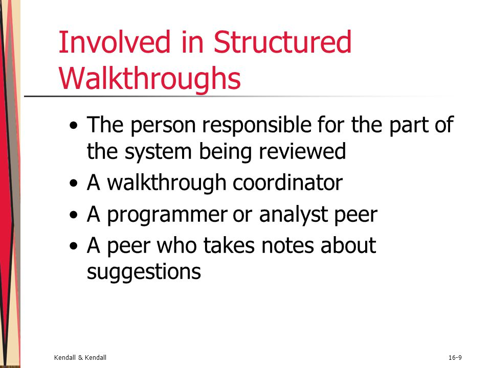 Involved in Structured Walkthroughs