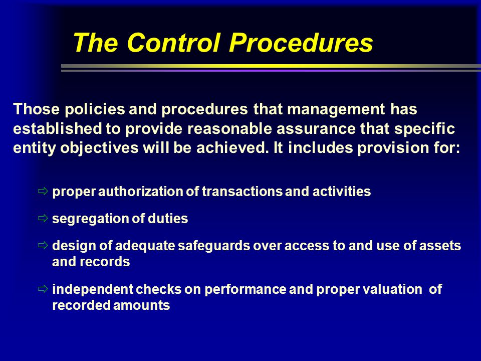 The Control Procedures
