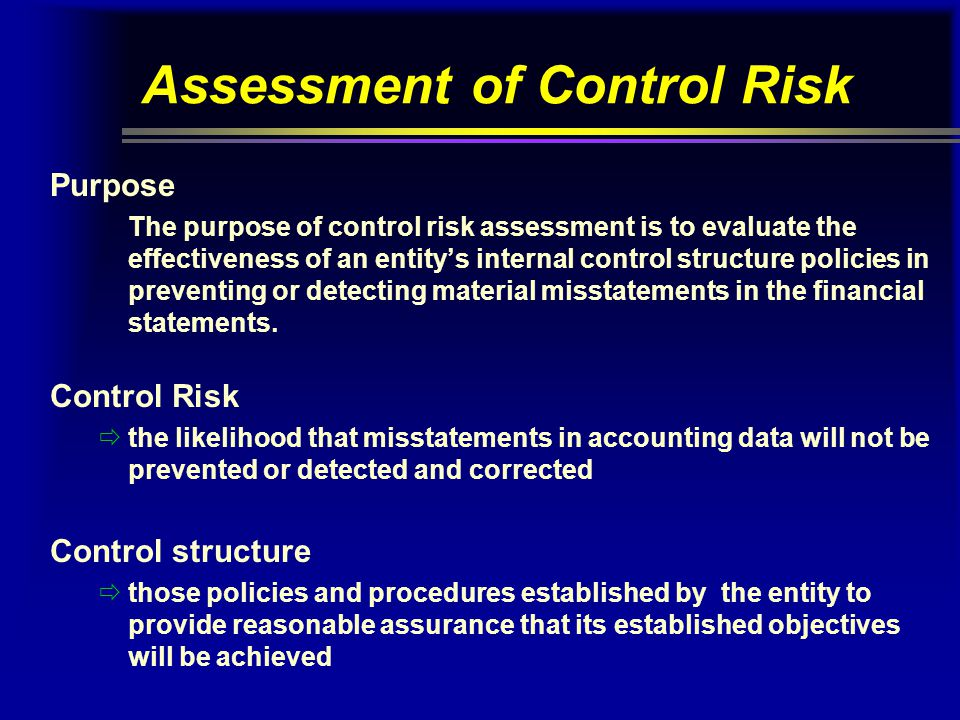 Assessment of Control Risk