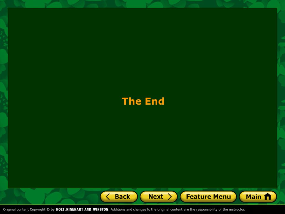 The End 27