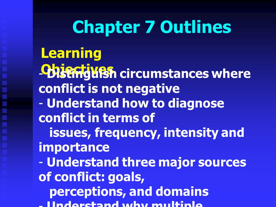 Chapter 7 Outlines Learning Objectives