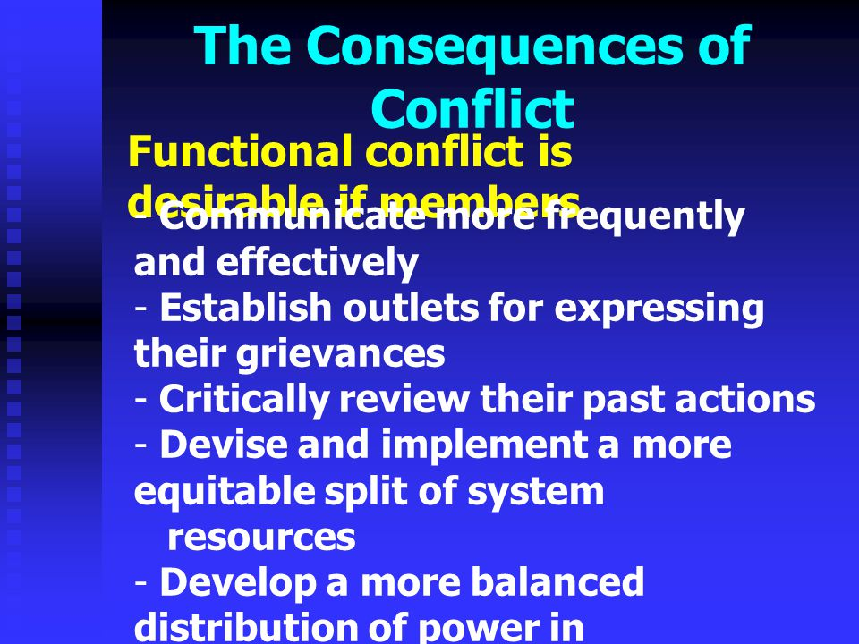 The Consequences of Conflict