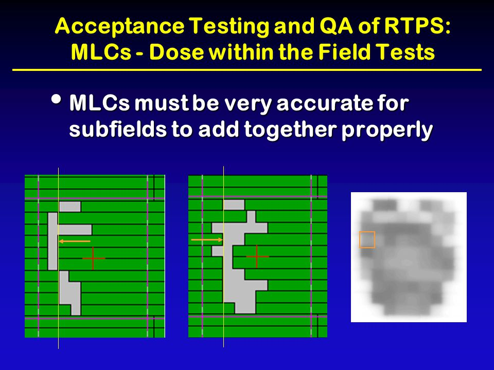Acceptance Testing and QA of RTPS: MLCs - Dose within the Field Tests