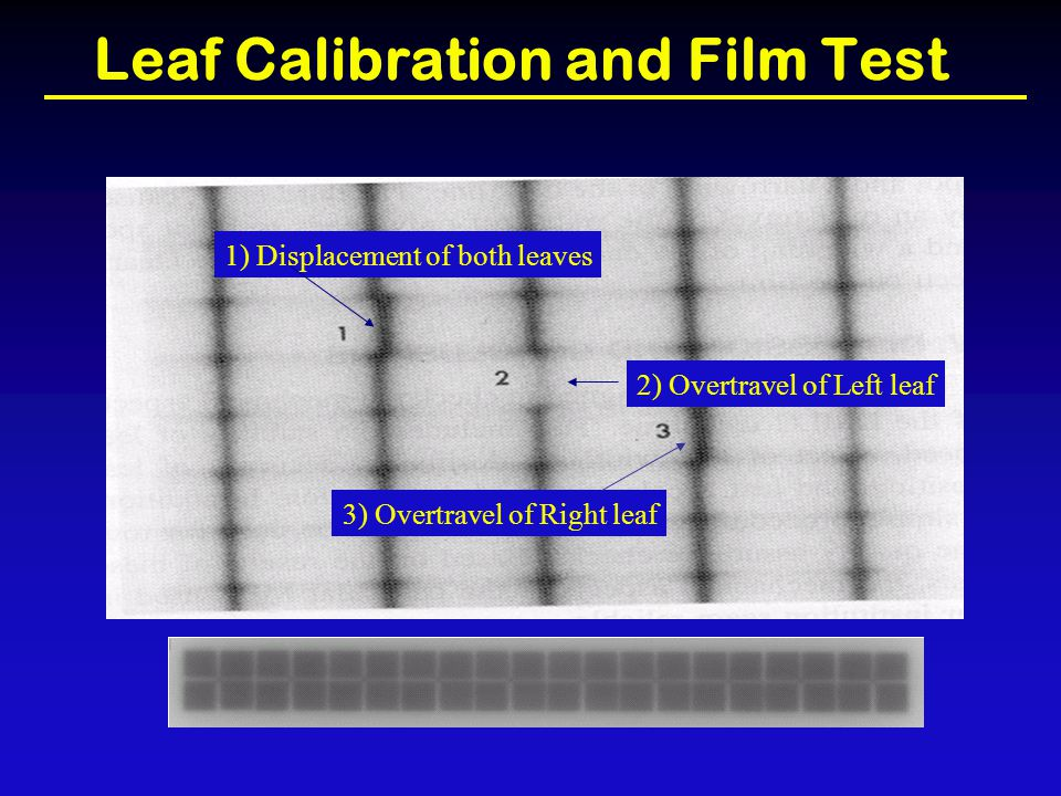 Leaf Calibration and Film Test
