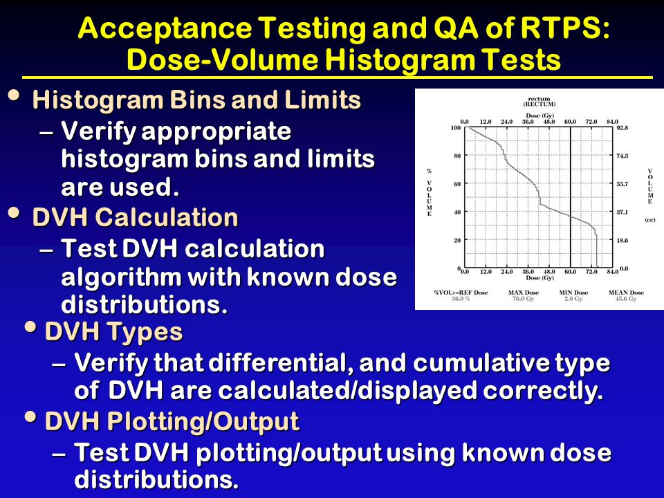 Acceptance Testing and QA of RTPS: Dose-Volume Histogram Tests