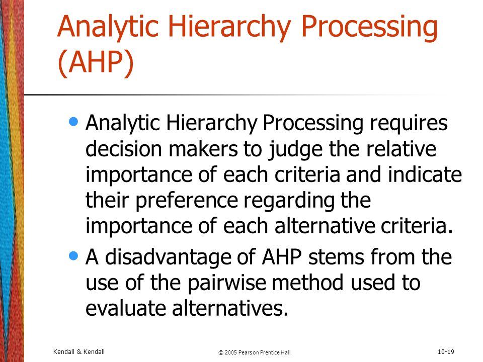 Analytic Hierarchy Processing (AHP)