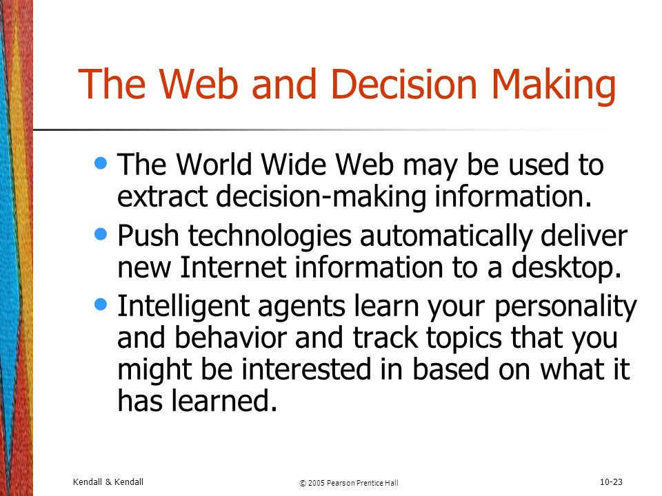 The Web and Decision Making