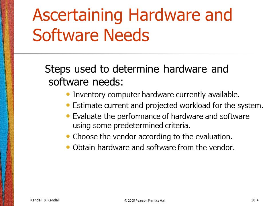 Ascertaining Hardware and Software Needs