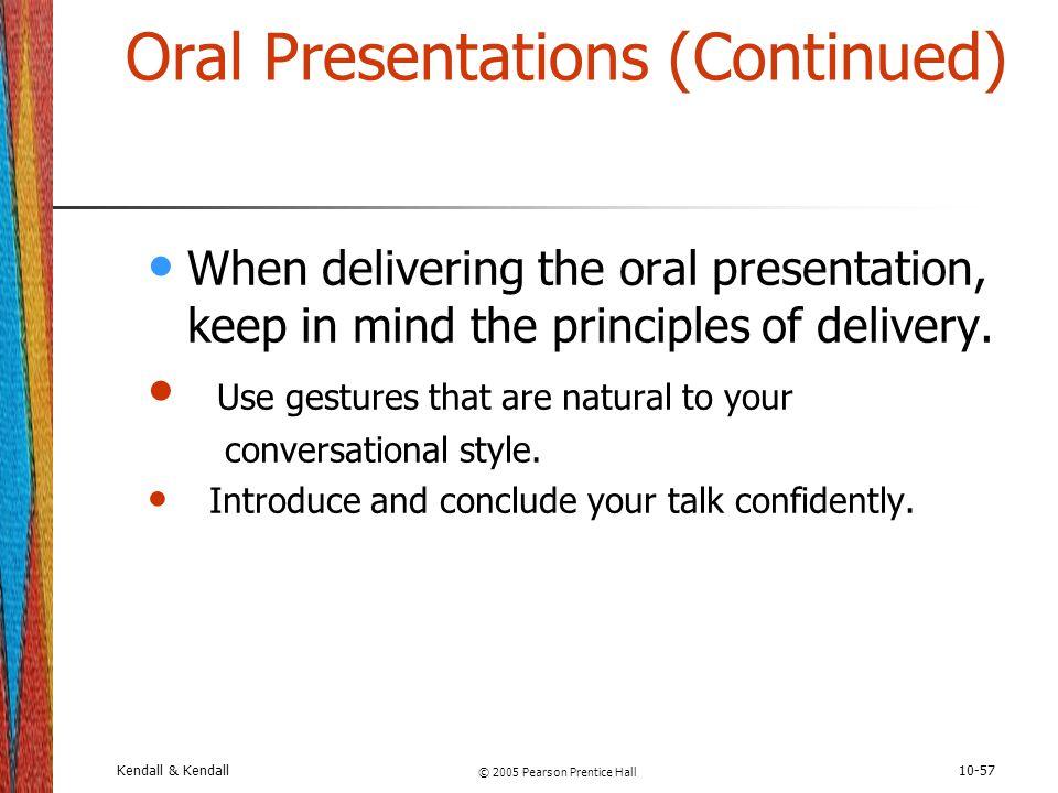 Oral Presentations (Continued)