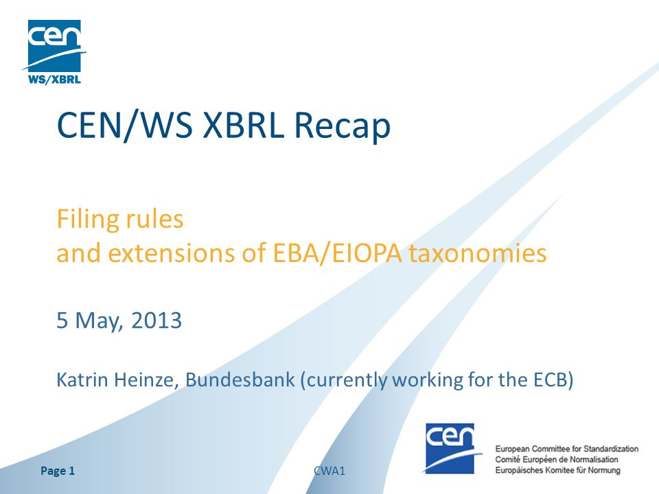 Filing rules and extensions of EBA/EIOPA taxonomies