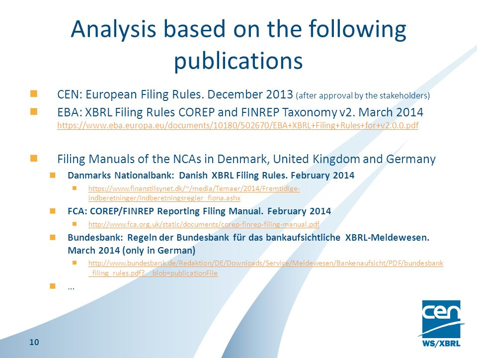 Analysis based on the following publications