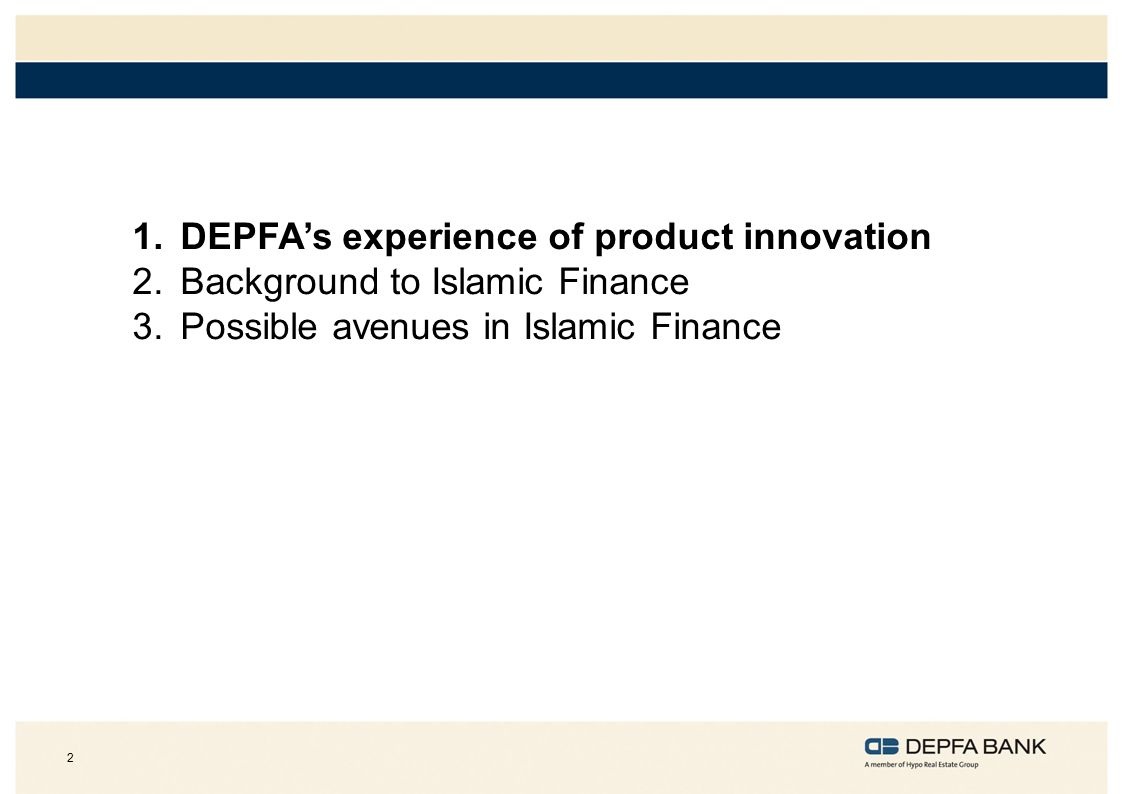 DEPFA's experience of product innovation
