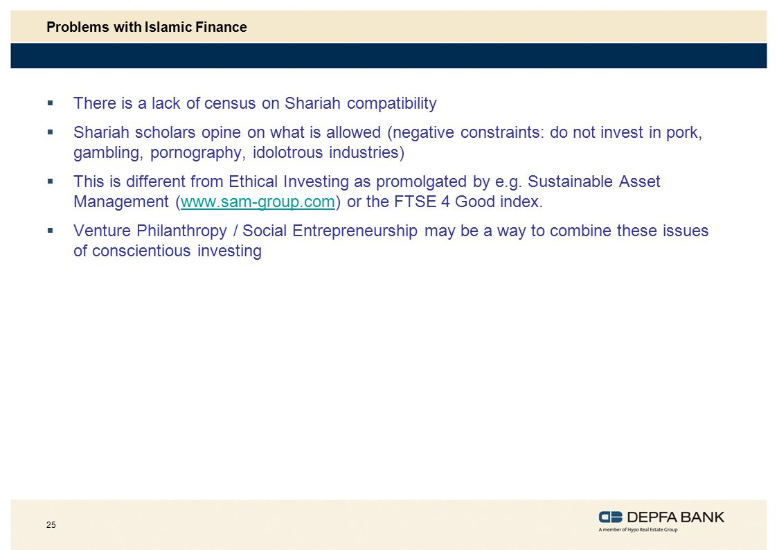 Problems with Islamic Finance