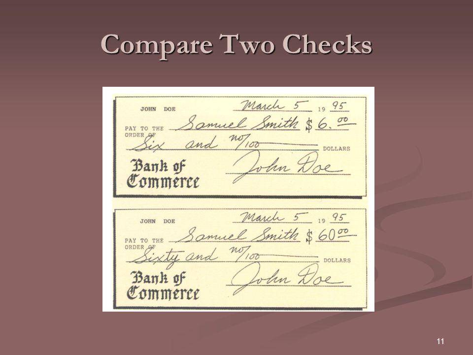 Compare Two Checks
