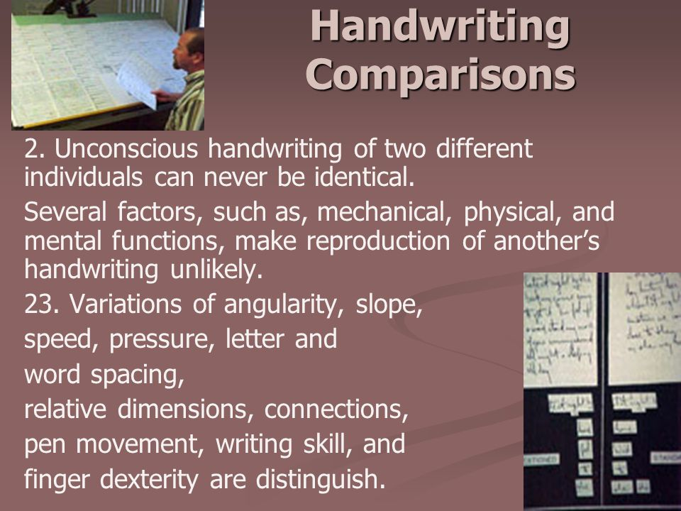 Handwriting Comparisons